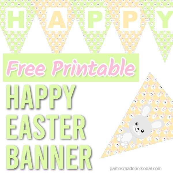 Happy Easter Banner Printable