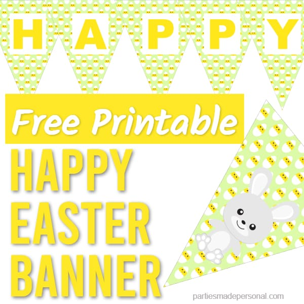 Happy Easter Banners to print