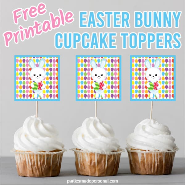 free printable Easter cupcake toppers
