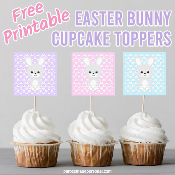 Printable Easter Cupcake Toppers Pastel