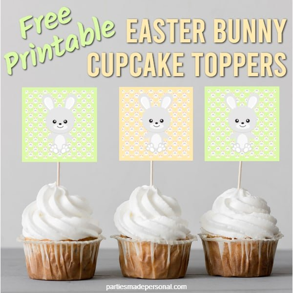 Printable Easter Cupcake Toppers Citrus