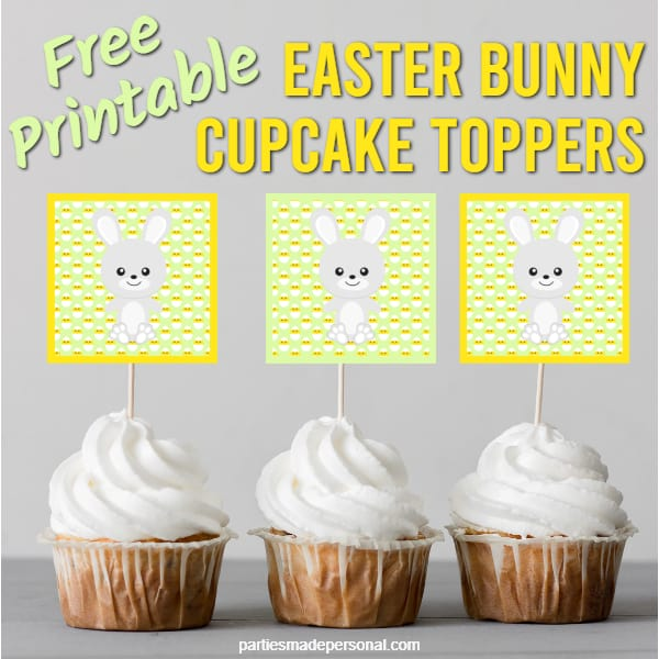 Printable Easter Cupcake Toppers