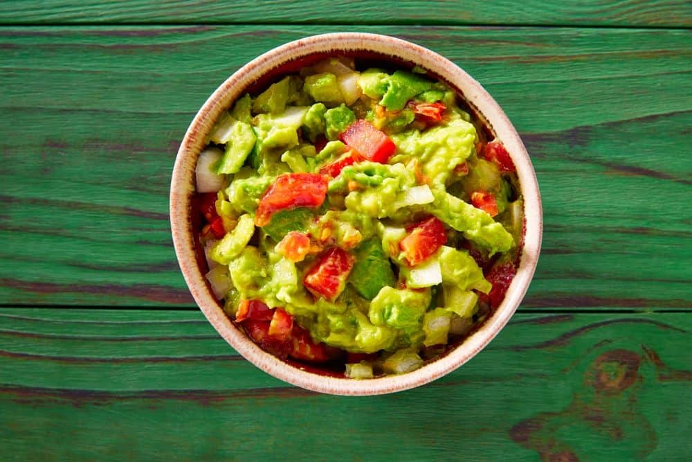 Green theme party food guacamole dip