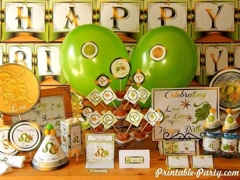 Leo Party Decorations