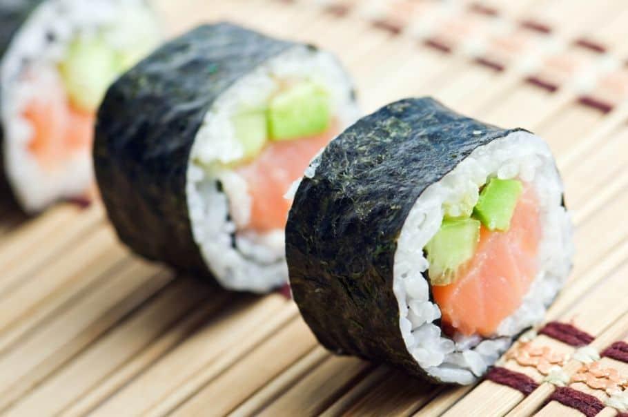Black party food ideas sushi