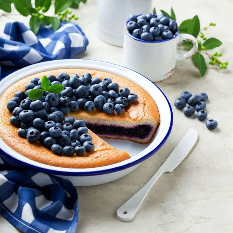 blueberry pie - blue party food ideas