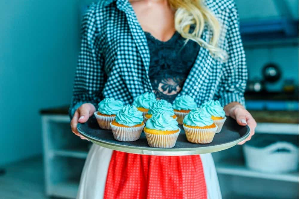Blue party food - blue cupcakes