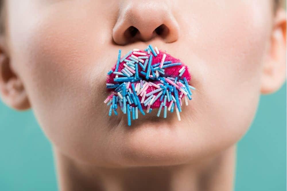 Blue sprinkles for blue party food