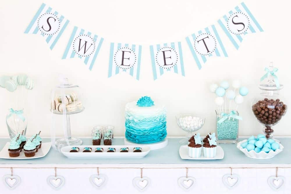 Blue Themed Party Food