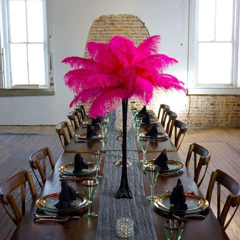 Pink Table Decoration Centerpiece