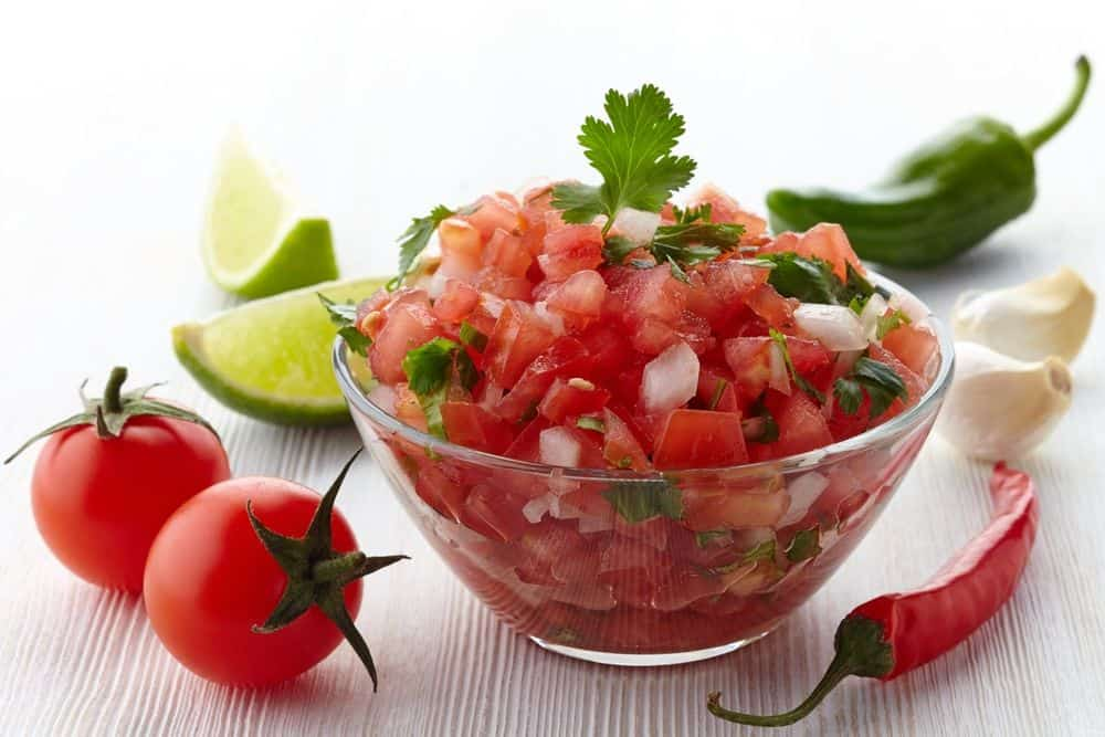 Red Party Food Salsa