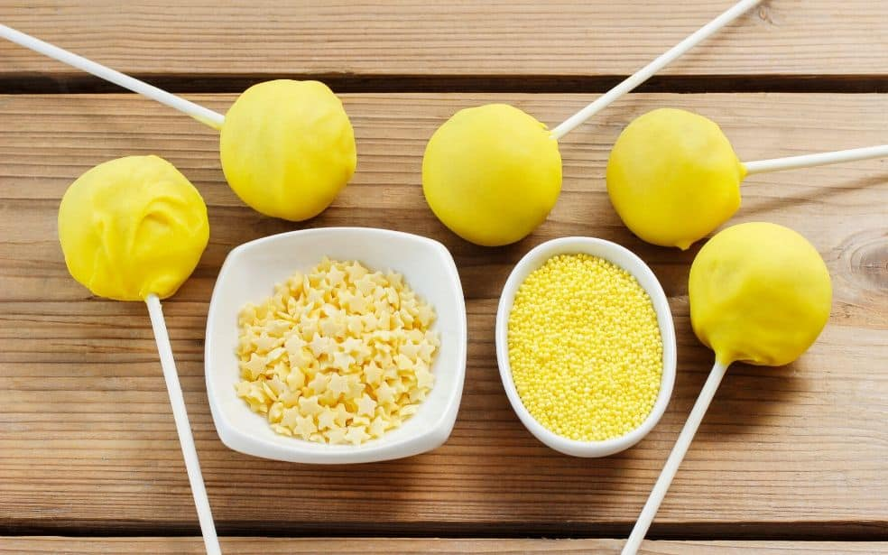 Yellow sprinkles for yellow party food