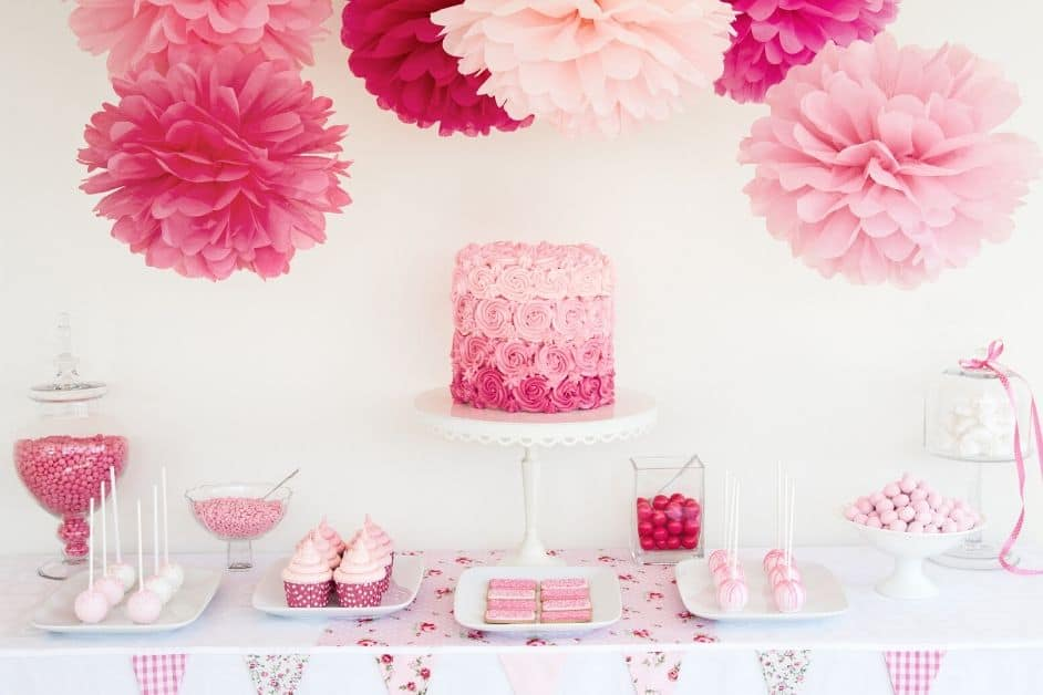 Pink Candy Buffet Pink Candy Bar Dessert Table