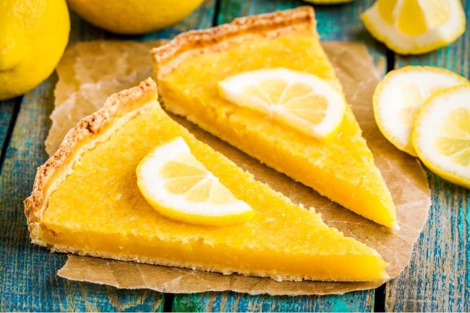 yellow foods lemon tart