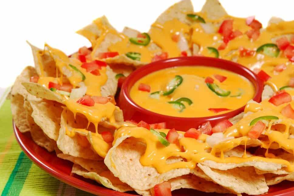 yellow foods nachos platter