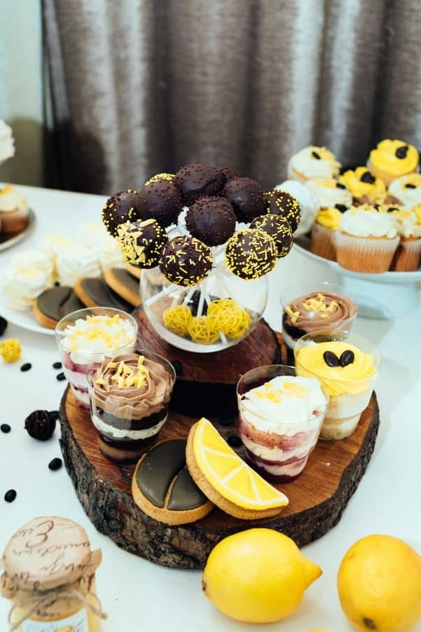 yellow party foods