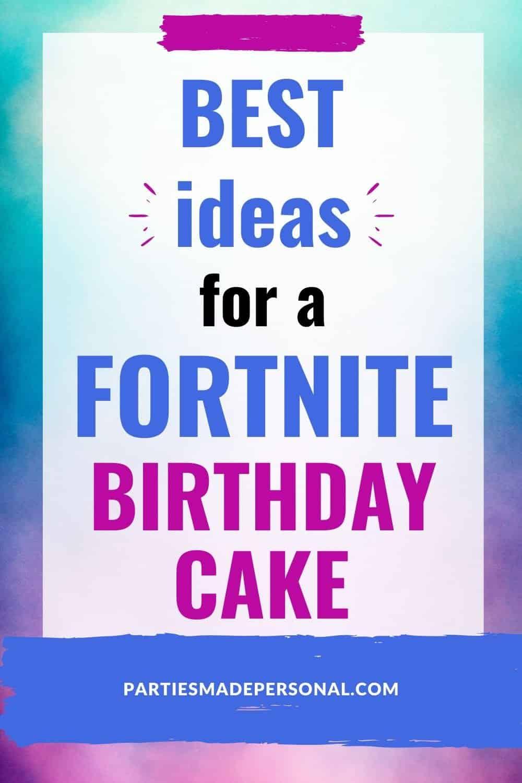 Fortnite Cake Ideas