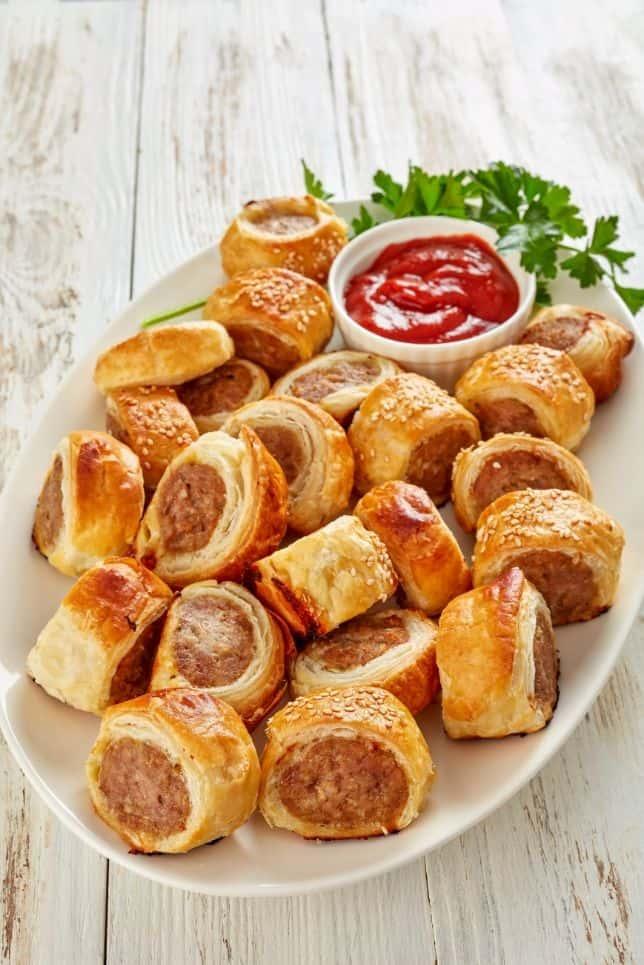 sausage rolls party platter