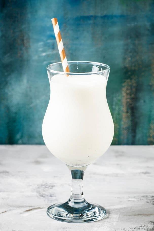 white party drinks vanilla milkshake