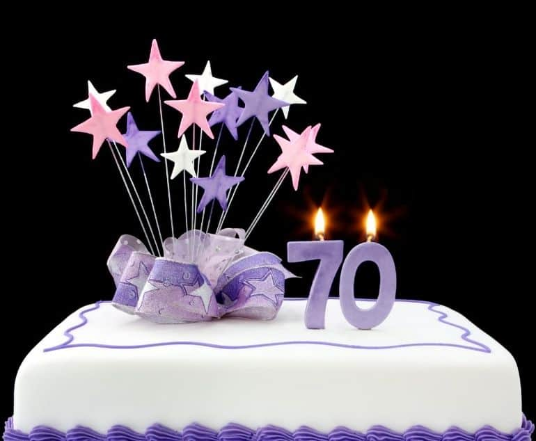 70th birthday cakes