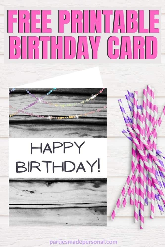 black and white birthday cards to print