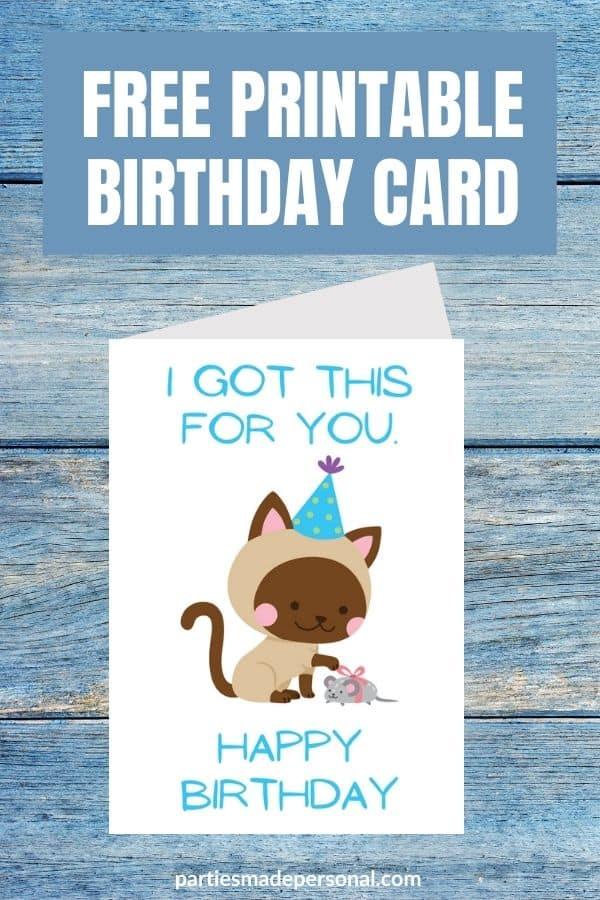 Birthday card from cat