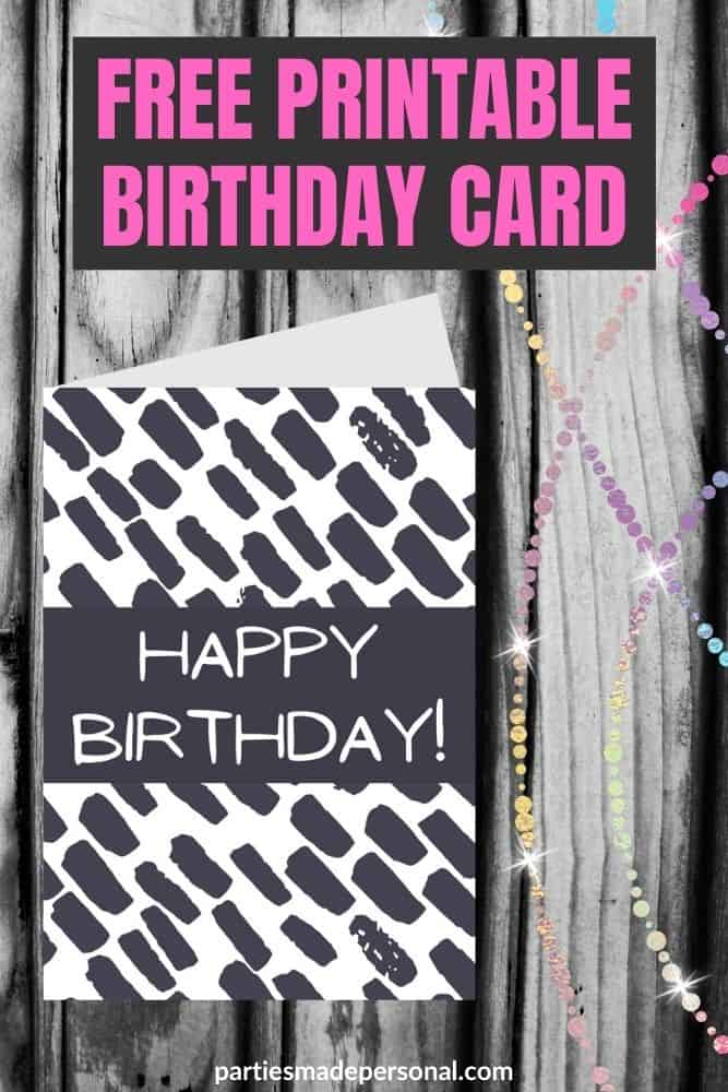 birthday cards black and white printable