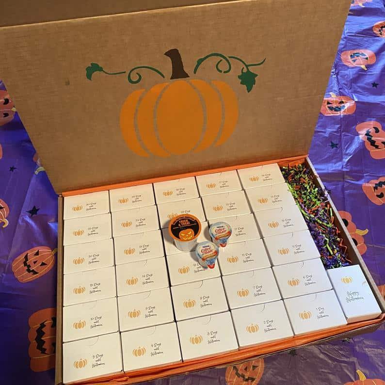 Halloween Countdown Calendar Coffee