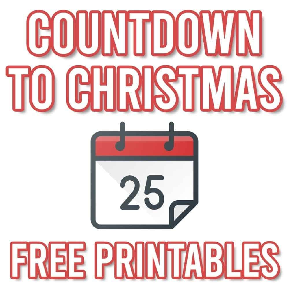 How Many Days until Christmas Calendar (Free Printable) | Parties