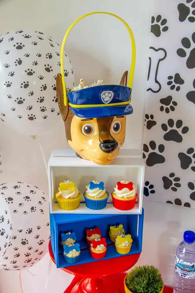 Paw Patrol table decorations