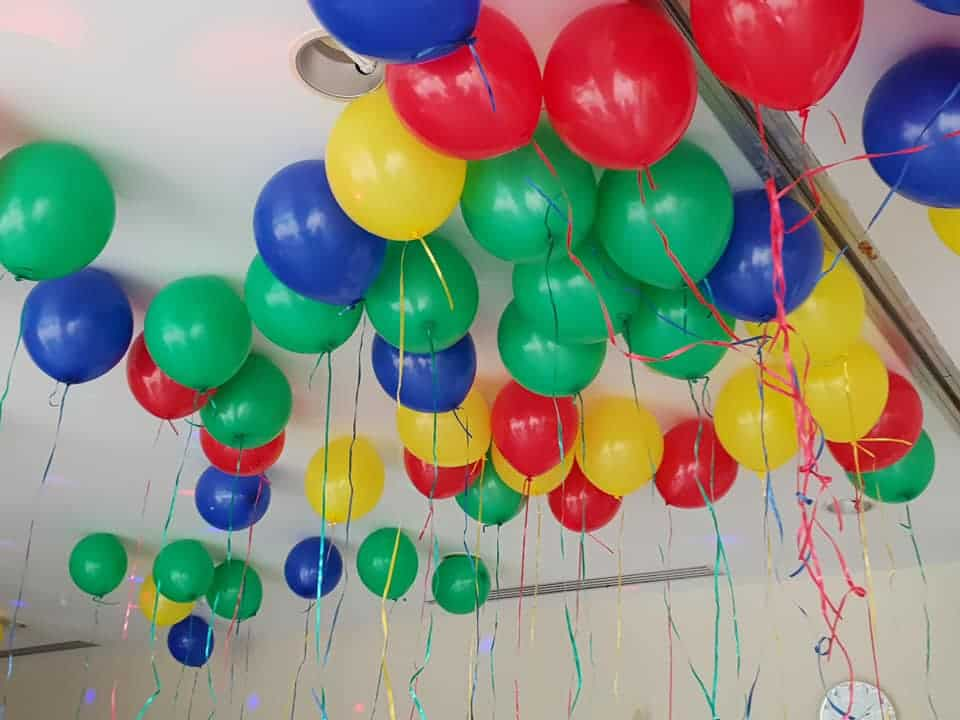 Lego Balloons for Lego birthday party