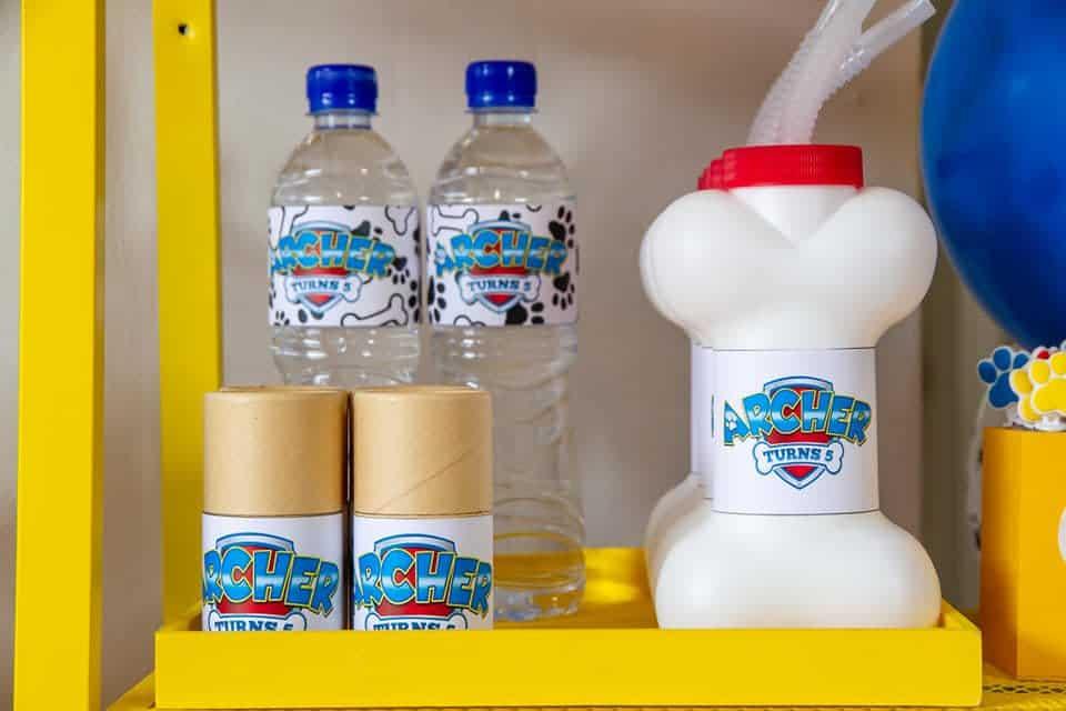 Paw Patrol stickers water bottles