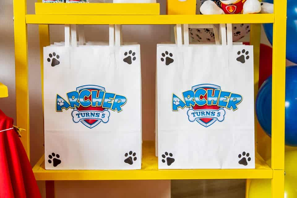 paw patrol party favors