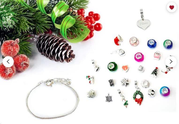 Advent calendar charm bracelet