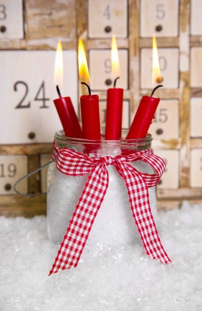 candle advent calendar