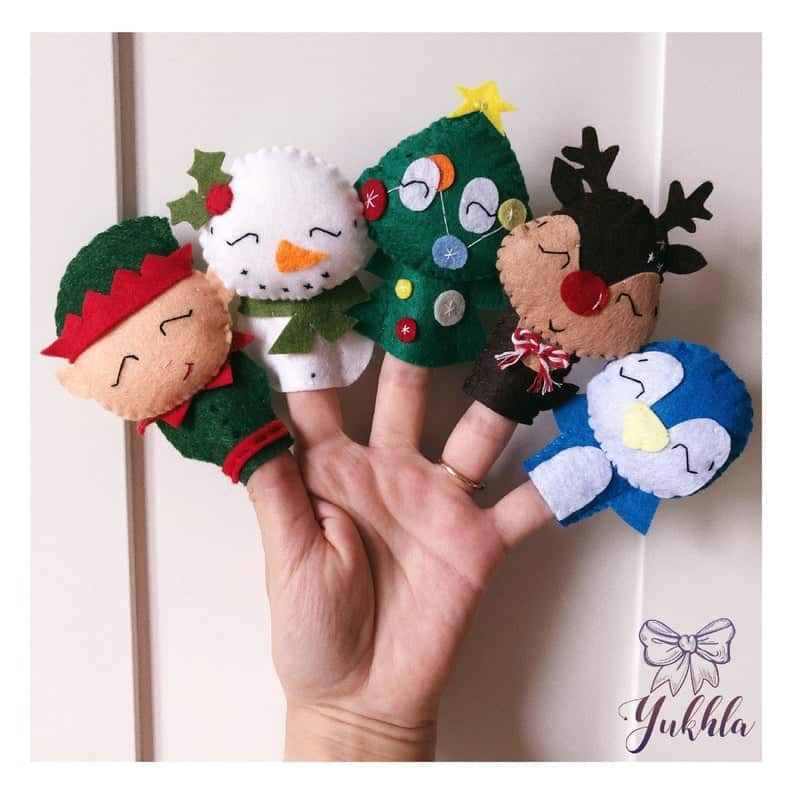 Ideas for Advent Calendar Fillers - Christmas Finger Puppets