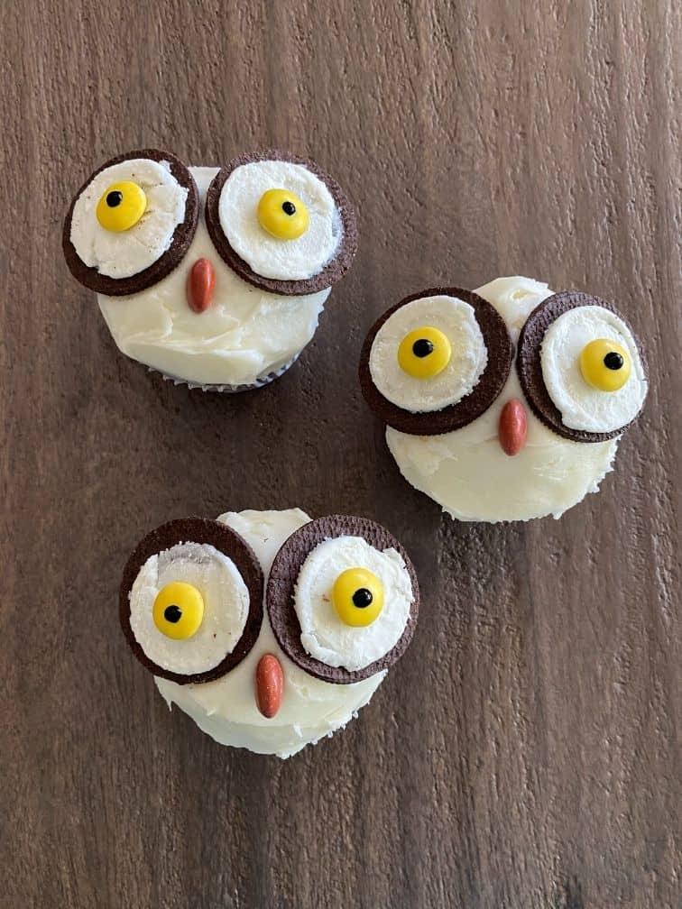 Hedwig cupcakes