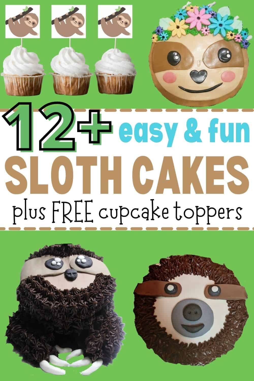 sloth cakes