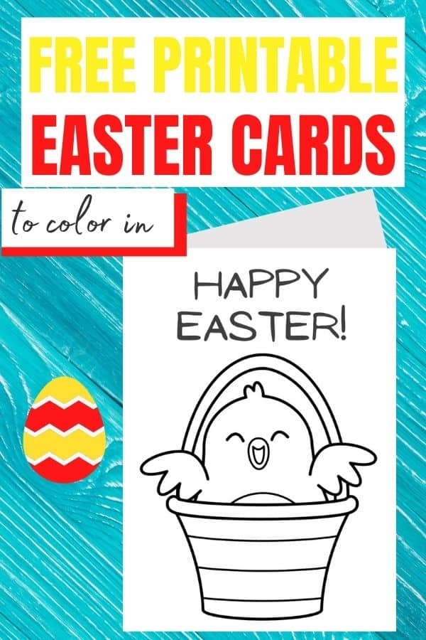 Easter cards to colour