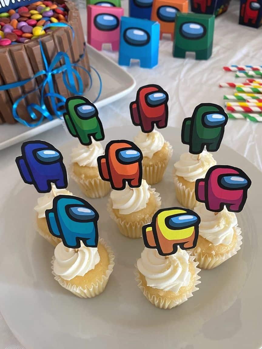 among us cupcakes