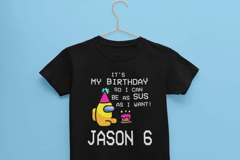 Among Us birthday shirt