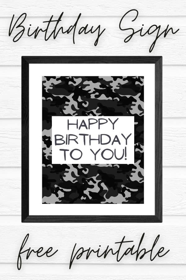 free printable happy birthday sign