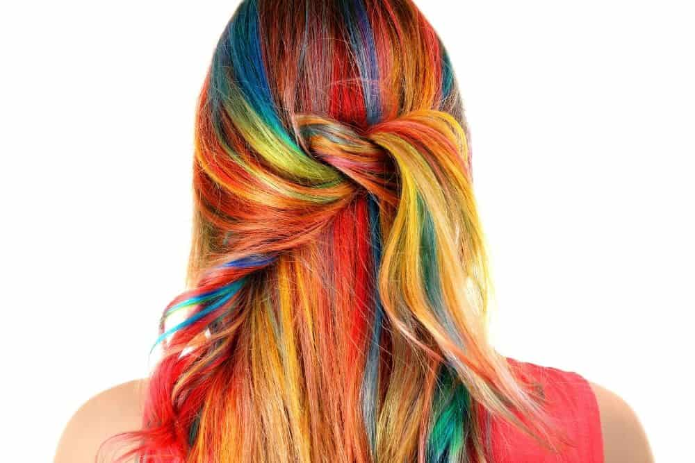 rainbow hair chalk for kids