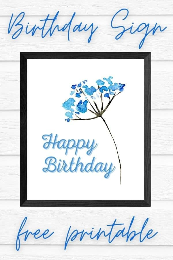 happy birthday printable sign