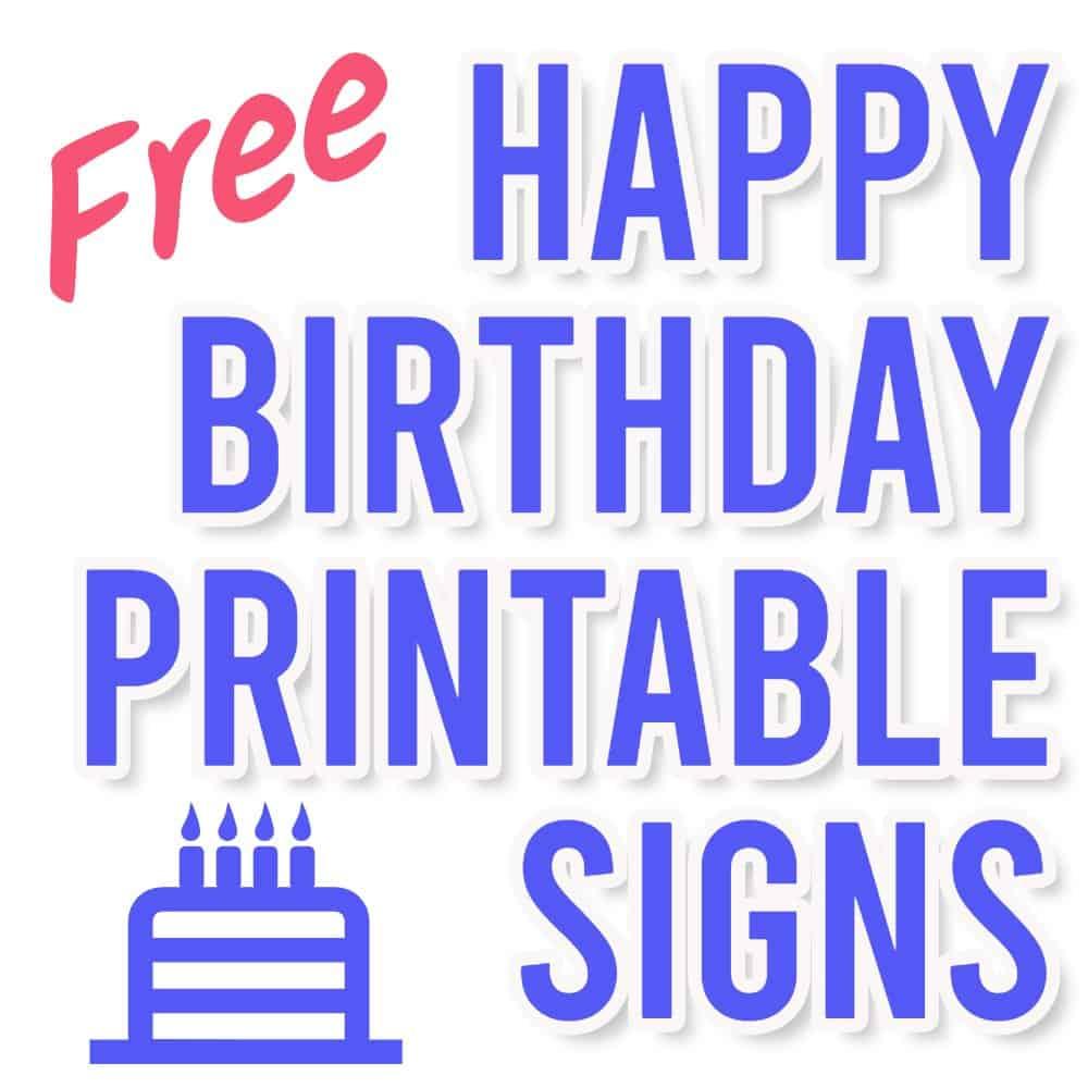 happy birthday sign printable