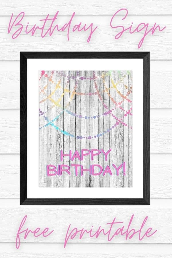 happy birthday signs to print