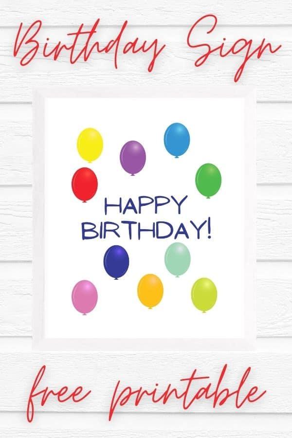 printable birthday signs