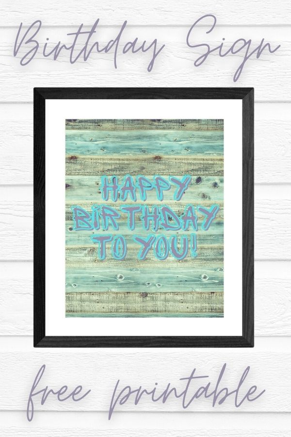 printable happy birthday sign