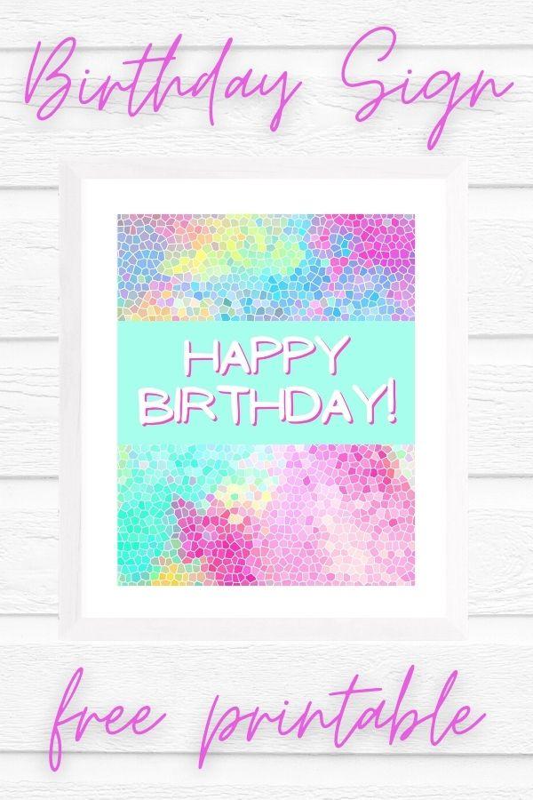 printable happy birthday signs