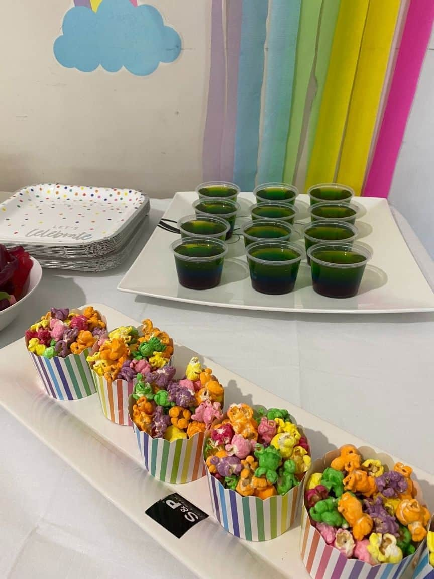 rainbow themed party food